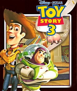 Cartel de Toy Story 3 con Andy y Buzz Lightyear