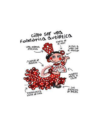 T-shirt for children. Como ser una autentica flamenca