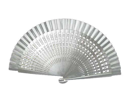 Silver fancy fan