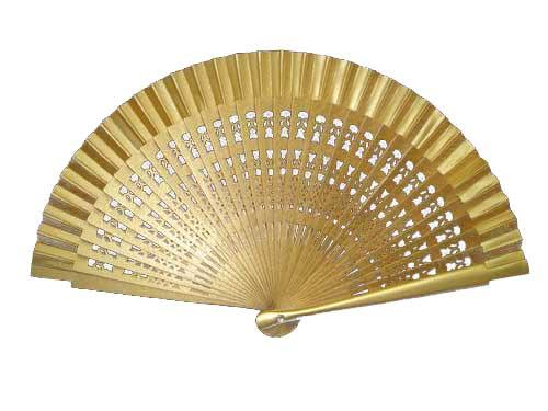 Golden fancy fan