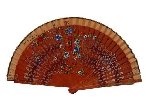 Fans with floral decoration. Ref.4187