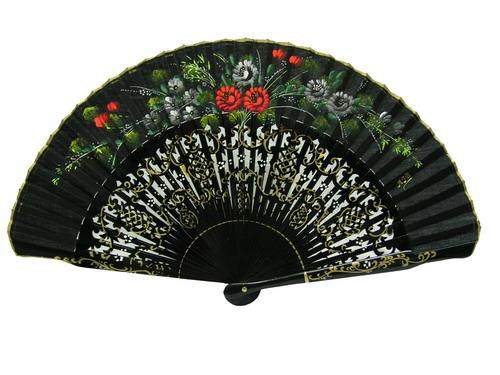 Fans with floral decoration. Ref.115