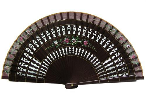 Maroon painted fan Ref. 83