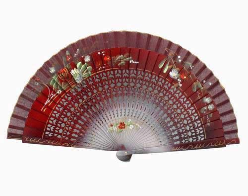 Maroon painted fan Ref. 161GR