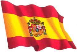 drapeau espagnol ondoyant autocollant - Drapeau Espagnol A Imprimer