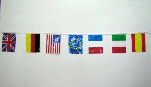 Guirlande des drapeaux des pays du monde
