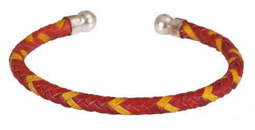 Bracelet Plaited Cord Spanish Flag