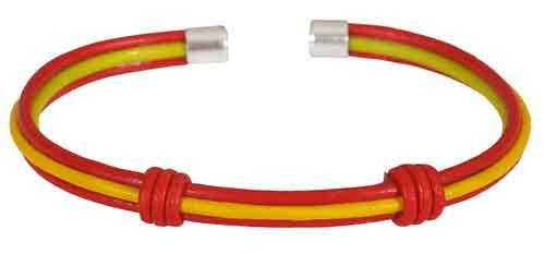Spanish flag bracelet with cord and knot