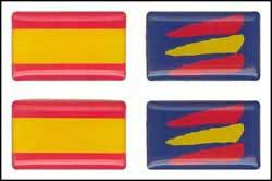 Spanish flag with volume - Stickers