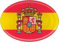 Oval spanish flag with shield - Sticker