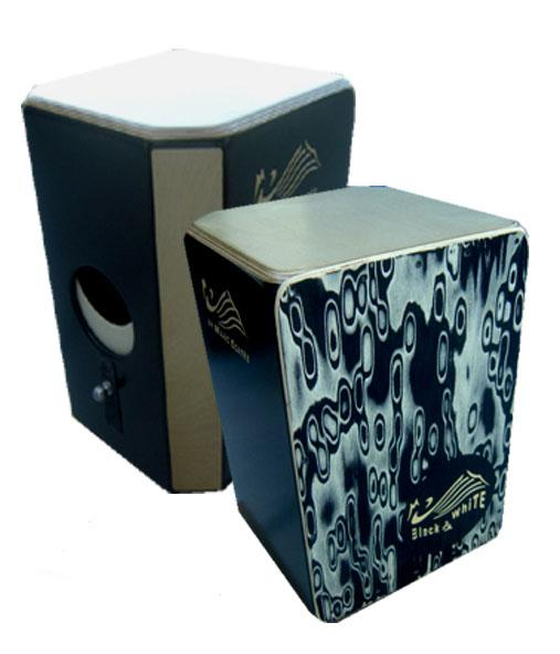 Cajon Flamenco (Drum Box) Mario Cortés. Mod. Black & White