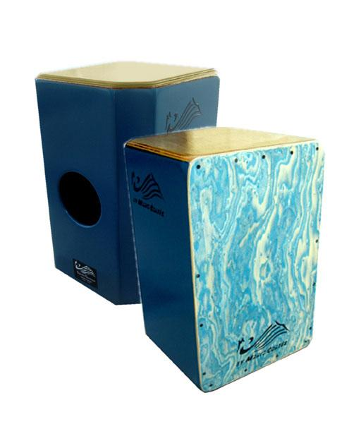 Cajón flamenco Mario Cortés. New Model Blue Sea