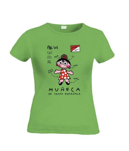 Camiseta mu eca flamenca - Dibujos para pintar camisetas infantiles ...