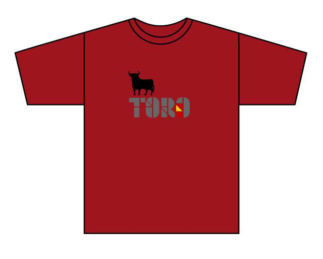 T-shirt Logo Bull España. Red