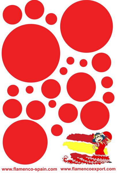 Red polka dots Stickers
