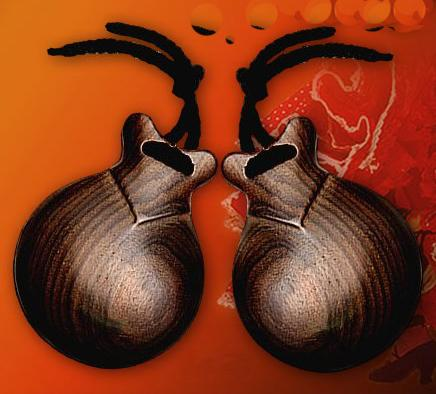 Granadillo Brown Wooden flamenco castanets