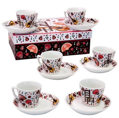 Ceramica flamenca tazas de t y caf for Juego de tazas de te