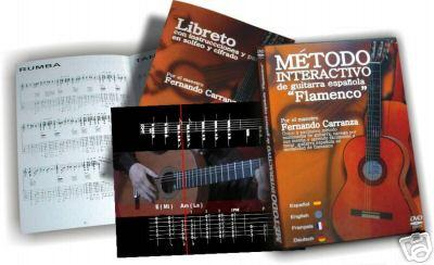 Spanish Flamenco guitar interactive method  - DVD - PAL