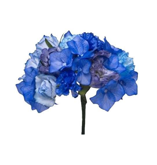 Flamenca's Flowers Bouquet in Blue Tones. Ref. 72T183. 20cm