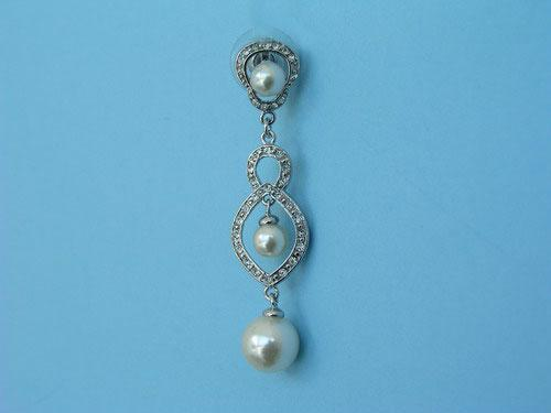 Fancy jewel earrings with pearls and brilliants ref. 111220