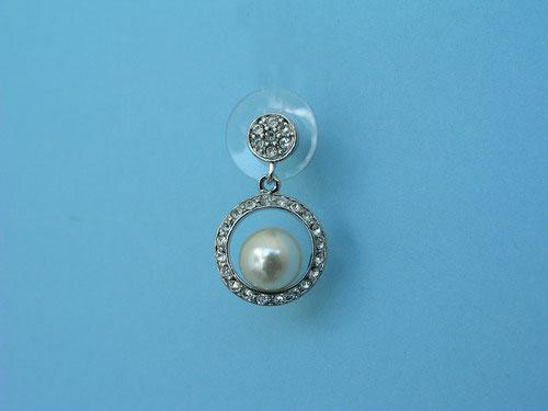 Fancy jewel earrings with pearls and brilliants ref. 111221