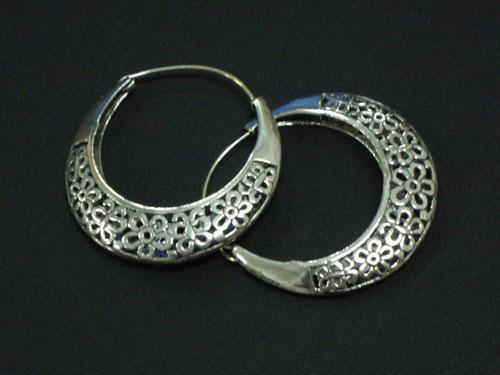 Pendientes de plata de aro labrados - Fotos de pendientes ...