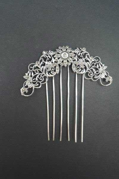 Silver comb with