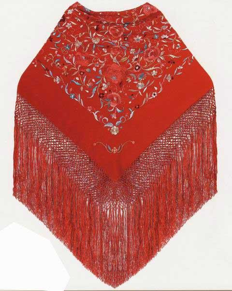 Shawls / Manila Embroidered Shawl for girls Ref. 1010216