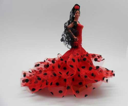 Flamenco doll Red dots by Marin. Mod 601