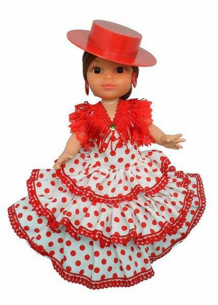 Flamenco Dolls with Red Cordovan Hat. 25cm