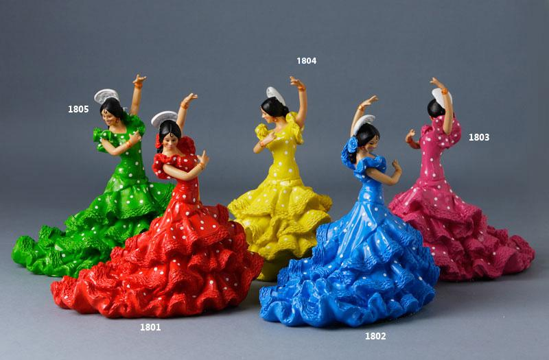 Resin flamenco dance dolls - 20 cm