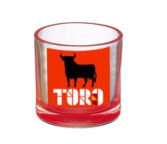 Chupito toro de osborne rojo bajo monta a for Vasos chupito personalizados