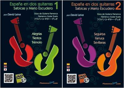 Spain in two Guitars. Sabicas and Mario Escudero by David Leiva. Score+DVDs. Economic Pack
