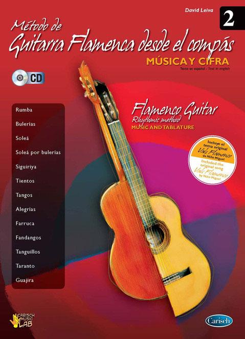 Flamenco guitar Method from the compas Vols.2. David Leiva