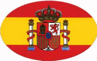 Drapeau espagnol oval autocollant - Drapeau d espagne a colorier ...