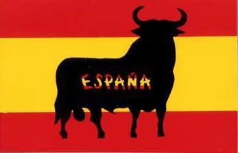 Taureau drapeau espagnol autocollant - Drapeau espagnol a colorier ...