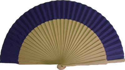 Natural wooden fan