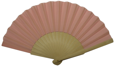 Wooden fan with 16 ribs