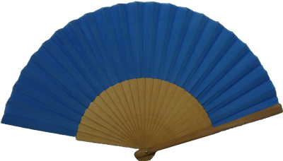 Polished wooden fan 24 ribs