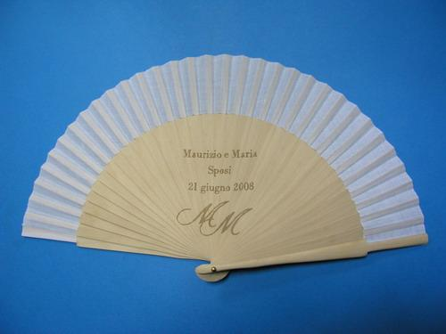 Personalized fan, laser engraved