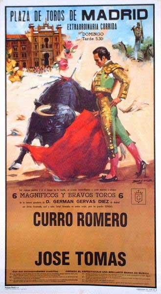 Poster of the Monumental bullring of Madrid  - Ref. 194M