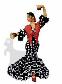 Flamenca with polka dots costume. Barcino. Black