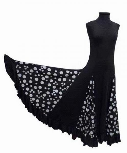 Cheap/Inexpensive Dancing Dress with White Spots