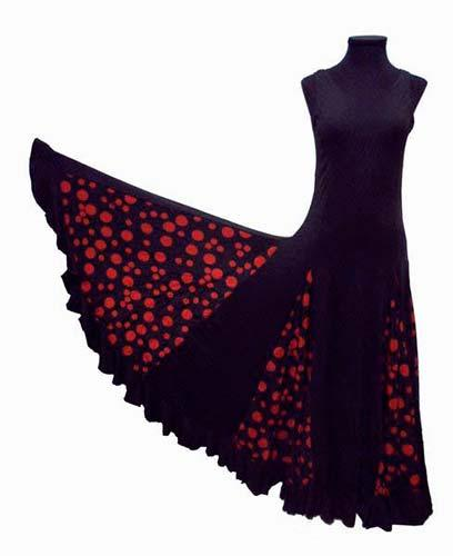 Inexpensive Dancing Dress with Red Spots