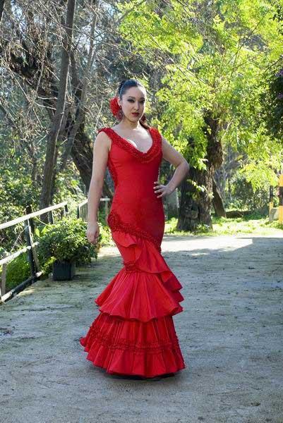 REGALOS DE REYES PARA LOS FORER@S... Traje-de-Flamenca.-Carmin