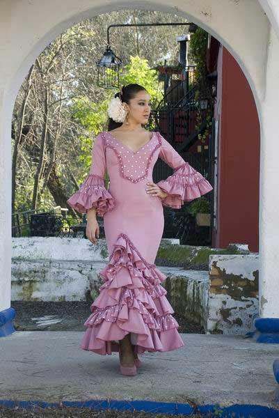 REGALOS DE REYES PARA LOS FORER@S... Traje-de-Flamenca.-Fresa