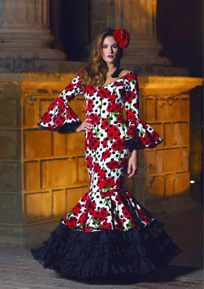 Flamenca Dress Abril Flores. 2017-2018