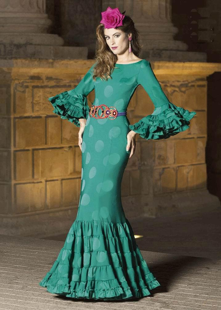 Flamenca Dress Aguamarina model. 2017-2018