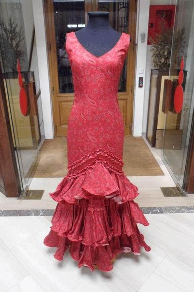 Outlet. Trajes de Flamenca Amatista Granate T.38
