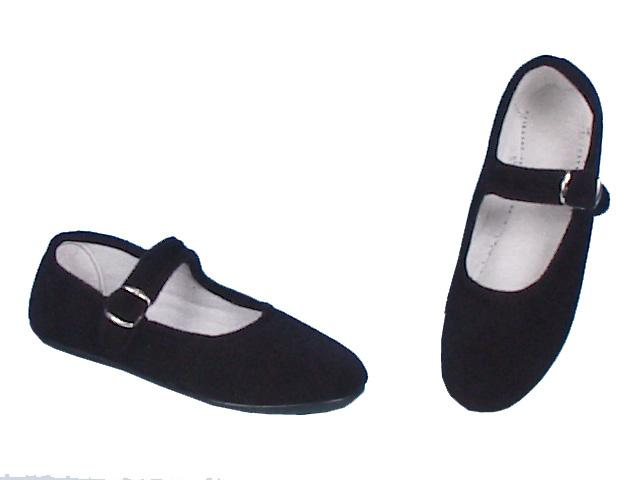 Mercedes style soft shoes in velvet for typical regional costumes